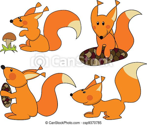 Four fun squirrels - csp9370785