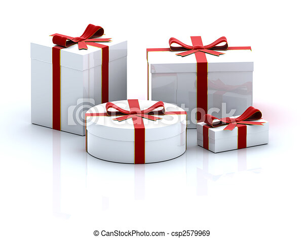 Four gift boxes - csp2579969