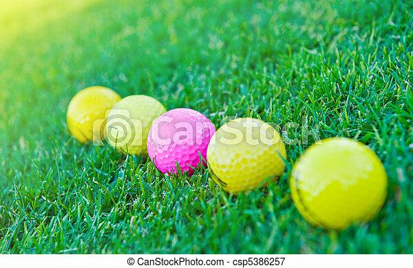 Four golf balls - csp5386257