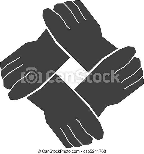 Four hands teamwork - csp5241768