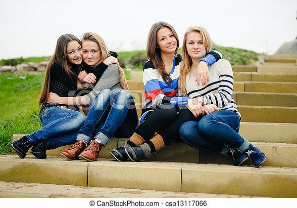 Teen picture Friend having