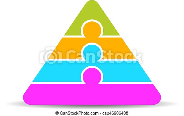 four layers pyramid diagram four layers vector pyramid vector rh canstockphoto com pyramid clip art free food pyramid clipart