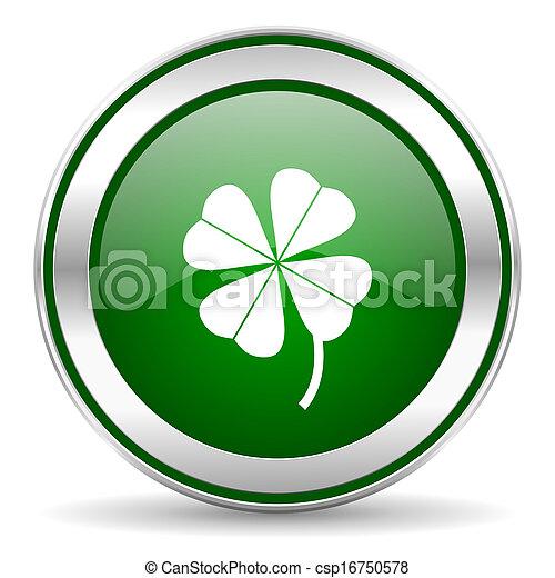 four-leaf clover icon - csp16750578