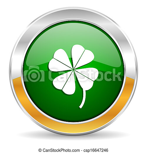 four-leaf clover icon - csp16647246