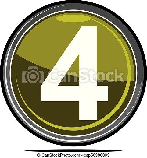 Four Logo Design Template Vector - csp56386093