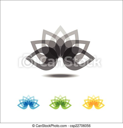Four lotus icons - csp22706056