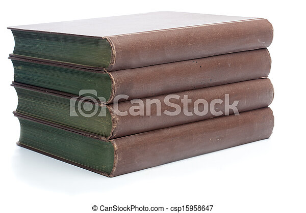 Four old books from the 19th century - csp15958647