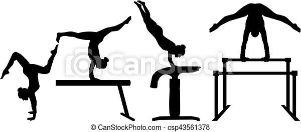 four-part, ginnastica, concorrenza - csp43561378
