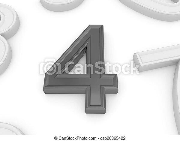 four. - csp26365422