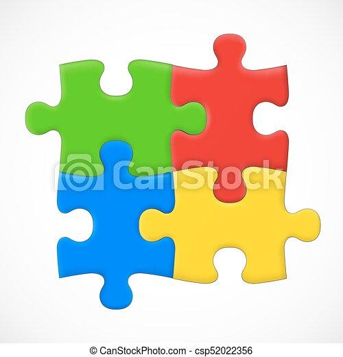 four piece puzzle solution concept vector illustration clipart rh canstockphoto com puzzle piece graphic organizer puzzle piece graphic template