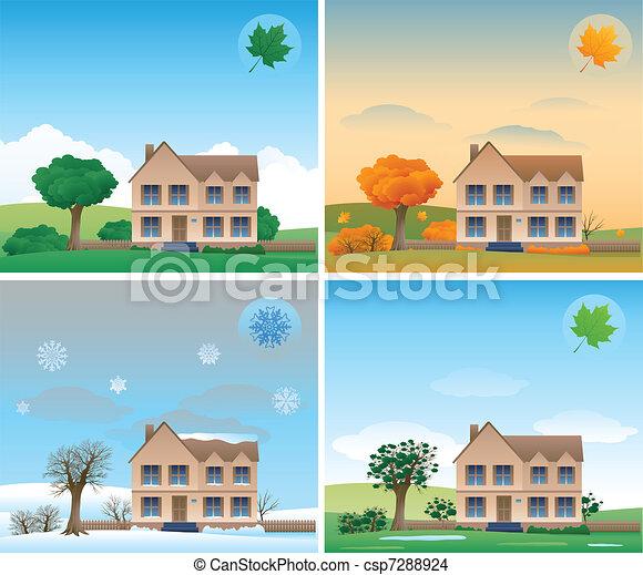Four season background - csp7288924