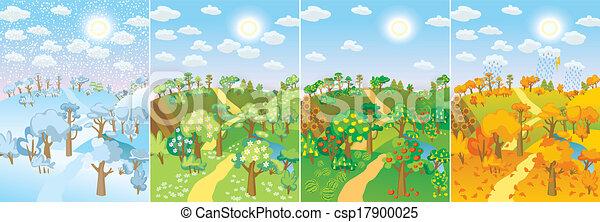 Four seasons - csp17900025