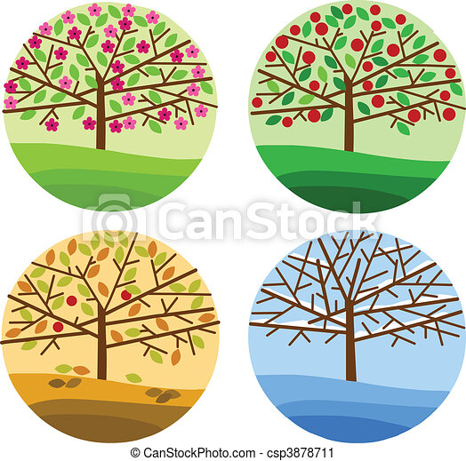 four seasons - spring, summer, autumn and winter - csp3878711