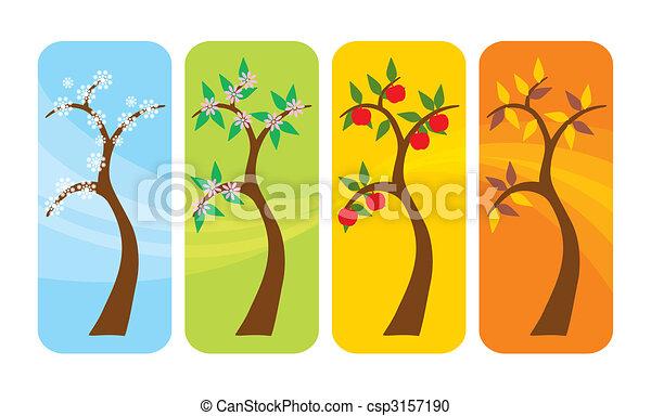 Four Seasons Tree - csp3157190