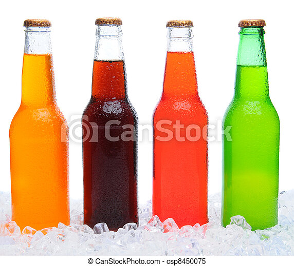 Four Soda Bottles in Ice - csp8450075