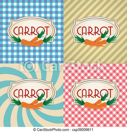 four types of retro textured labels for carrot eps10 - csp39009611