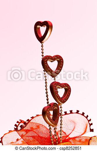 Four Valentine Hearts III - csp8252851