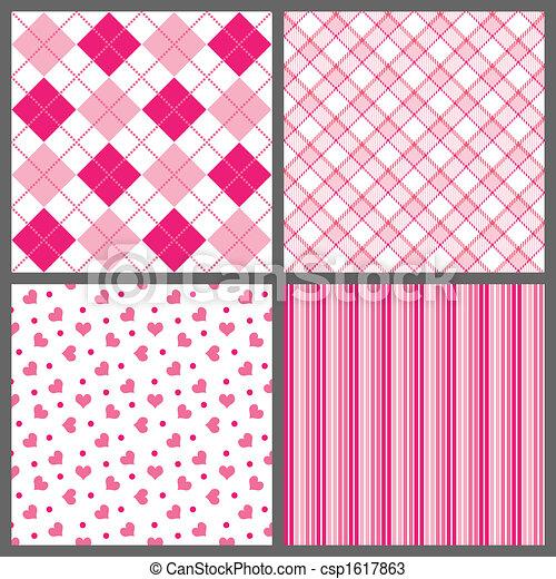 Four Valentine Patterns - csp1617863