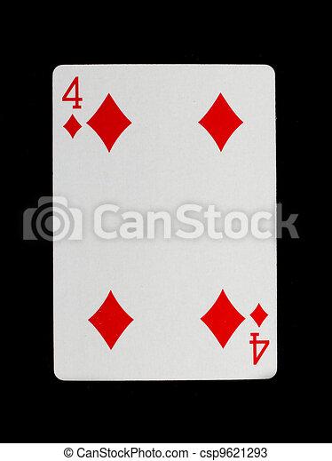 Vieja carta de juego (cuatro) - csp9621293