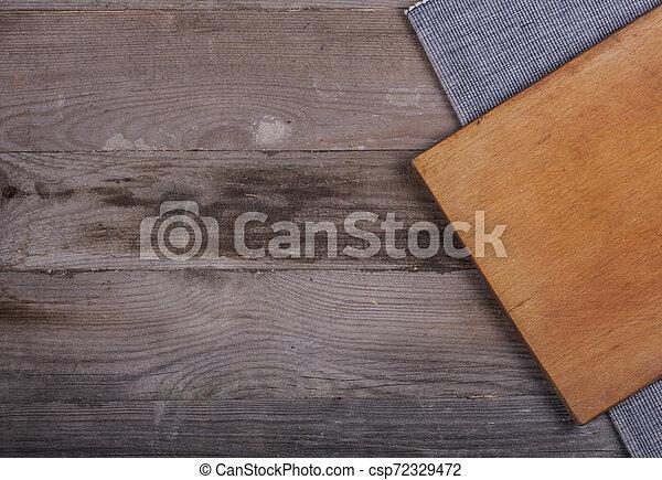 fourchette, vieux, bois, ustensiles, cuillère, tire-bouchon, table, cuisine - csp72329472