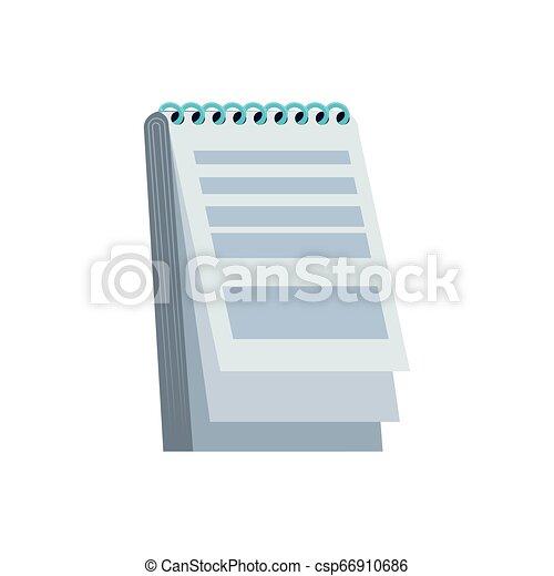 fourniture, bloc-notes, isolé, icône - csp66910686