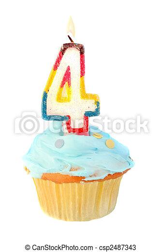 fourth birthday - csp2487343