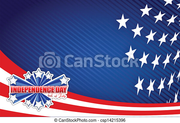 fourth of july, independence day patriotic - csp14215396