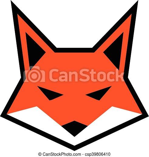 fox face logo vector icon vector clip art search illustration rh canstockphoto com fox logo vector free logo fox racing vectoriel
