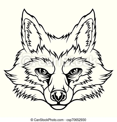 Fox Head Vector Illustration For Use As Print Poster Sticker Logo Tattoo Emblem And Other