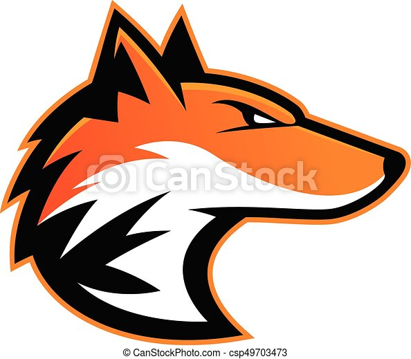 Fox head mascot - csp49703473