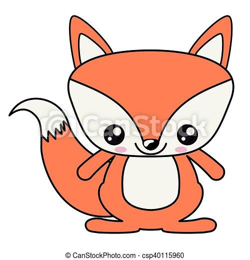 fox kawaii cartoon design fox with kawaii face icon cute clip rh canstockphoto ie kawaii clipart transparent kawaii clip art free