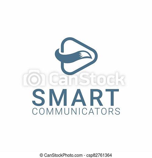 fox logo template - csp82761364