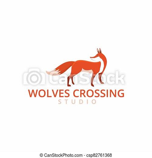 fox logo template - csp82761368