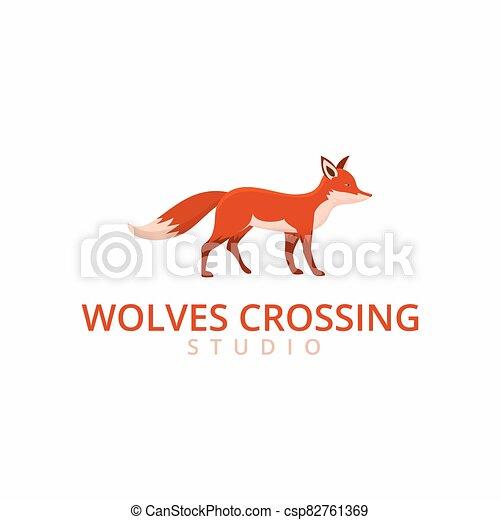 fox logo template - csp82761369