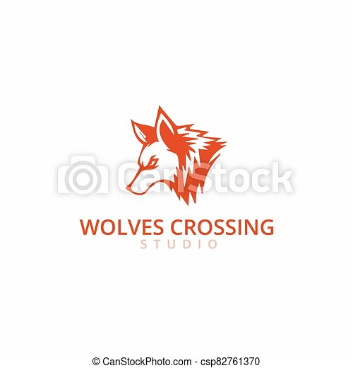 fox logo template - csp82761370