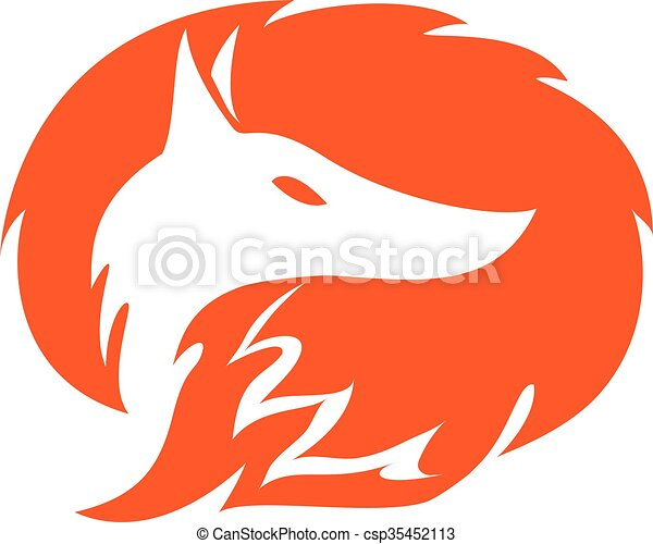 fox logo template - csp35452113
