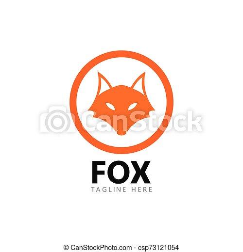 Fox logo template vector icon illustration - csp73121054