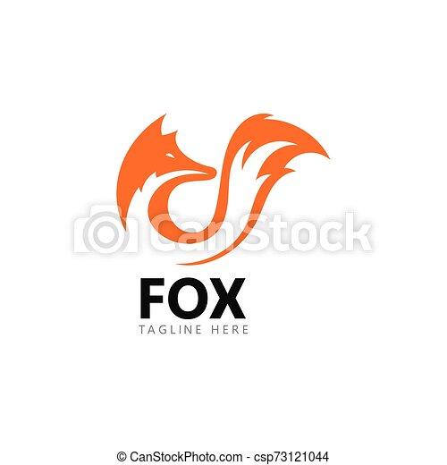 Fox logo template vector icon illustration - csp73121044