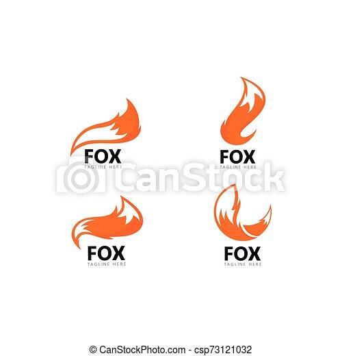 Fox logo template vector icon illustration - csp73121032