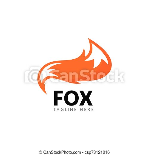 Fox logo template vector icon illustration - csp73121016