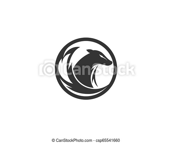 Fox logo vector - csp65541660