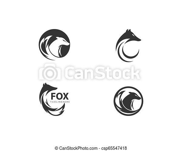 Fox logo vector - csp65547418