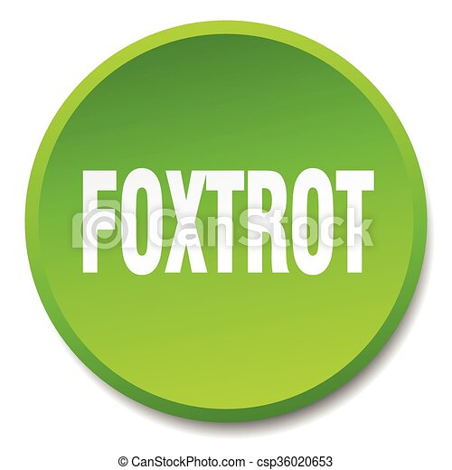 foxtrot green round flat isolated push button - csp36020653