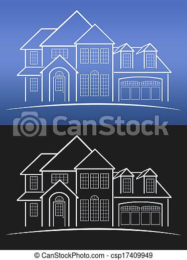 foyer bleu, caractères - csp17409949