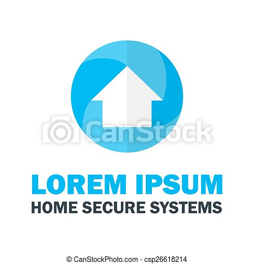 foyer bleu, logo - csp26618214