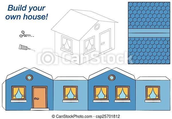 Foyer Bleu Modèle Papier