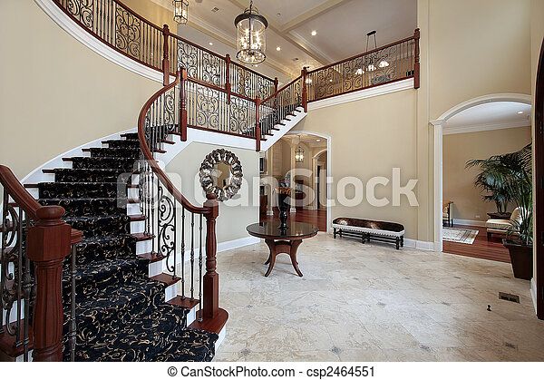 Luxury Home Foyer : Foyer in luxury home stock photography search pictures and photo