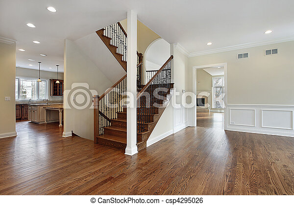 Foyer in new construction home - csp4295026