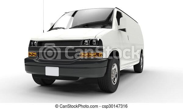 främre del, vit, 2, skåpbil - csp30147316