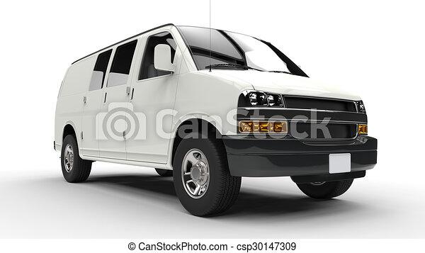 främre del, vit, skåpbil, låg - csp30147309